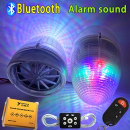 Wholesale Motorcycle Mp3 Theft Audio - 2.5 inch Motorcycle Bluetooth audio car with speakers anti - theft Alarm car MP3 subwoofer waterproof FM Radio USB Phone Charge