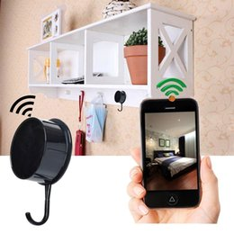 Wholesale Motion Cams - HD 1080P WIFI Wall Hook Hidden Camera Clothes Hook Video Recorder Nanny Cam Wireless Spy Camcorder Motion Dection Remote View