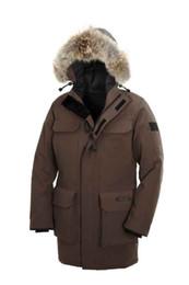 Wholesale Cheap Hooded - Fashion Winter Expedition Down Parkas Man Brand Designer Canada Jacket Men Design Parka Coat Outdoor Warm Coats XXXL Plus Size Cheap Sale