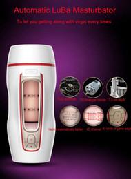 Wholesale Men Vibration Cup - Leten Electric Automatic Masturbation Cup Artificial Vagina Strong Suck Vibration Male Masturbator Retractable Sex Toys for Men