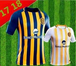 Wholesale Central Homes - 17 18 Argentina Rosario Central yellow home Jersey 2017 2018 Rosario Central away white men shirt