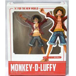 Um pedaço novo mundo figuras on-line-One Piece Anime Figuarts Macaco Zero D. Luffy PVC Figura do Novo Mundo Toy 15cm