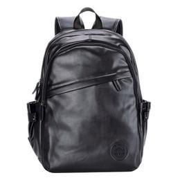 мужская мода PU кожаный рюкзак средней школы сумки для подростков черный коричневый цвет мода рюкзаки путешествия рюкзаки CVS001 cheap brown pu leather backpack от Поставщики рюкзак из коричневого pu кожи