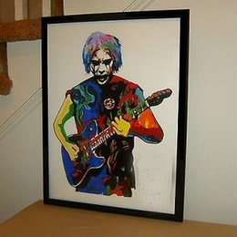 Wholesale Metal Art Oil Painting Abstract - Framed John 5, Guitar, Guitarist, Heavy Metal, Rock, Rob Zombie,Pure Hand Painted Abstract Art Oil Painting Quality Canvas.Multi sizes P096