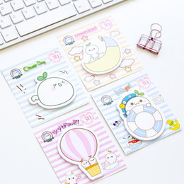 Wholesale Pet Office - Wholesale- Cute Cartoon White Pet With Grass Memo Pad Sticky Notes Sticker Label Escolar Papelaria School Office Supply