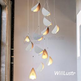 Wholesale Suspension Paper - modern flying folded paper metal origami art iron pendant lamp hanging lighting suspension light cafe dinning room restaurant hotel bar
