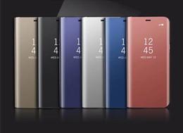 iphone gold spiegelschirmschutz Rabatt Luxus klar smart ständer spiegel ansicht flip abdeckung schlaf wach telefon case displayschutzfolie für iphone 11 x xs max galaxy s10 s9 note10 9 8