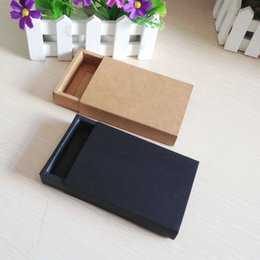 Wholesale Wholesale Black Earring Gift Box - Wholesale- Wholesale 50pcs lot 6.8*10.4cm 11.5x8cm Jewelry Earring Bracelet Ring Gift Boxes Black Bow Case