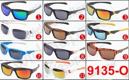 Wholesale Spectacles Frames For Men Fashion - DHL Shipping Cheap Sunglasses for Men and Women sports spectacles Bicycle Glass cycling sunglasses fashion dazzle colour mirrors 9135