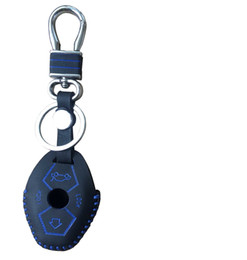 Wholesale Top Case Premium - For BMW E38 E39 E46 E53 E60 61 E63 64 E83 E85 86 Keys Premium Quality Hand Sewed TOP Leather Key Cover Protection Case Chain