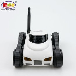 Wholesale Wifi Camera Iphone For Car - 2017 Mini RC Spy Tank Car FPV 0.3MP Camera WiFi Remote Control Deformable Support iPhone iPad Android For Children Adult