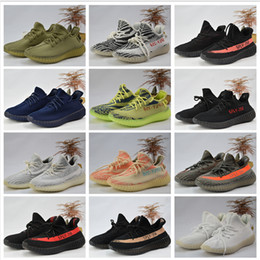 Wholesale Unisex Shoes Sizes - Adidas Originals Best Quality Yeezy Boost 350 man shoes SPLY 350 v2 Boost Running Shoes Sneakers 350 Boost V2 Women Men Shoes Size 36-46