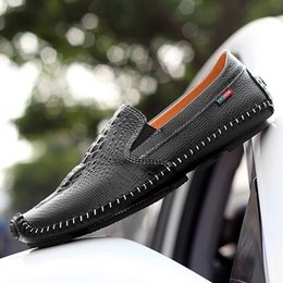Wholesale wedding shoes size 11 flats - 2017 HOT Big US size 6-11 man dress shoe Flat Shoes Luxury Men's Business Oxfords Casual Shoe Black   Brown Leather Derby Shoes Italian ge