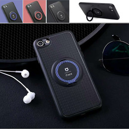 Wholesale New Phone Cases - New Iface Serise Cellphone Case For iphone X iphone 8 8 Plus Magnetic Car Ring Holder For Samsung S8 S7edge TPU Phone Case