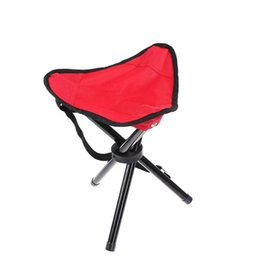 Wholesale Small Outdoor Chairs - Wholesale- Red Outdoor Chair Stools Portable Foldable Small Size Fishing Picnic Beach Chairs Home Use H193-1