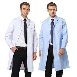 Wholesale medical scrubs uniforms - Men's Scrubs Fashion Style Medical Uniform Long Sleeves Lab Coat   Dental work coat   Beautician Suit collar clothes