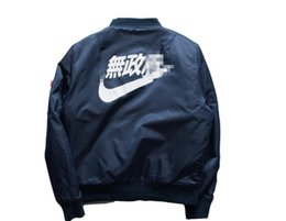 Wholesale Slim Coat Outerwear - Ma1 Bomber Jacket 2016 Spring Kanye West Yeezus Tour Pilot Anarchy Outerwear Men Army Green Kanji Japanese Merch Flight Coat