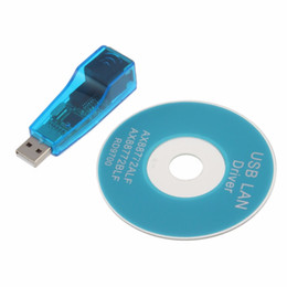 Wholesale Android Tablet Rj45 - Wholesale- USB 1.1 To LAN RJ45 Ethernet 10 100Mbps Network Card Adapter For Win7 Win8 for Android for Tablet PC Blue In stock!