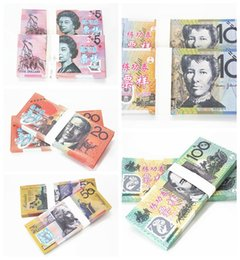 Wholesale Music Fountain Pen - AUD 5 10 20 50 100 or movie props and Education bank staff training paper fake money copy money children gift