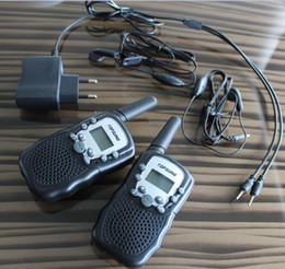Wholesale Handheld Radio Codes - Free shipping~ PMR mobile radio 3km walkie talkie pair T388 FRS VOX hand-free portable radios 99 private code w  led flashlight