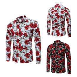 Wholesale men graphic shirt - 2018 cotton hawaiian shirt for men Long sleeve Paisley Print bandana shirt Graphic Streetwear men floral shirt
