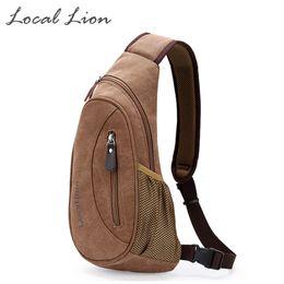 Wholesale Open Chest Women - Wholesale- LOCAL LION Waterproof Canvas Cross-body Bag Unisex Chest Bags Fashion Shoulder Bag Casual Women Men's Bags HQB1779