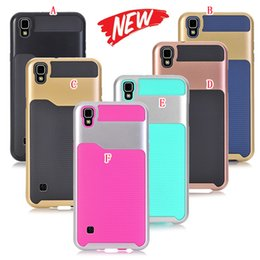 Wholesale Case Hd Lg - For LG X Style Tribute HD LS676 LV3 K8 2017 LV5 K10 Armor Hybrid TPU PC Hard Case Shockproof Wave Defender Camo Dual Layer Phone Cover Skin