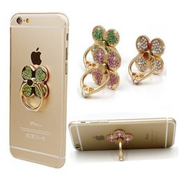 Wholesale Diamond Luxury Mobile Phone - For iphone 7 6s 6 Samsung s7 S6 Luxury Diamonds Metal Mobile Phone Ring Holder Universal Finger Grip Phone Stand