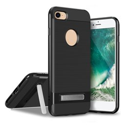 Wholesale V Phone Iphone - For Samsung S8 Plus Kickstand Case V-erus Armor Back Cover For Iphone 8 7 6 6s Plus TPU PC Cell Phone Protector With OPPBAG