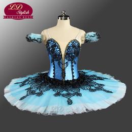 Wholesale Ballet Dance Competition - Sky Blue Tutu Skirts LD0054 Adult Classical Ballet Tutu Dance Costumes For Dance Performance Ballet Tutu Competition Nutcracker