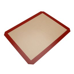 Wholesale Wholesale Cookie Dough - Non-Stick Silicone Baking Mat Pad 40*30cm Baking Sheet Glass Fiber Rolling Dough Mat Kitchen Tools Baking Tools For Cookies
