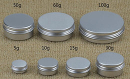 Wholesale Lip Balm Case Wholesalers - top quality 5 g 10g aluminium tin container jars, cosmetics aluminium metal box, lip balm tin case for wax cream