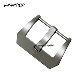 Wholesale Belt For Brushes - JAWODER Watchband 20 22 24 26mm New High Quality Brushed Stainless Steel Solid Watch Band Pin Buckle Strap Belt Clasps for Panerai
