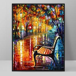 impressionismo pintura a óleo Desconto Modern Art Deco Pintura A Óleo HD Impressão em Canvas Wall Art Imagem Home Decor Sala Impressionismo Paisagens Pinturas Sem Moldura