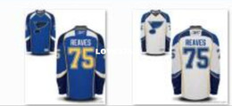camisolas de gelo Desconto Mens Jersey # 75 Ryan Reaves St. Louis Blues ICE hóquei Jersey ou personalizado qualquer nome ou número de hóquei jersey