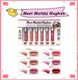 Wholesale E Lips - In Stock 2017 Makeup Matte Lip Gloss Meet Matt(e) Hughes Mini set Long Lasting Liquid Lipstick with the Brand
