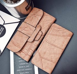 Wholesale Photo Outlet - outlet handbag vintage contracted large capacity gradient leather purse card package Mr With zero wallet purse vintage leather fashion