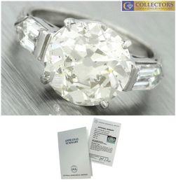 Wholesale Diamond Egl - Antique Art Deco 1940s Estate 7.35ctw Diamond Platinum Engagement Ring EGL USA