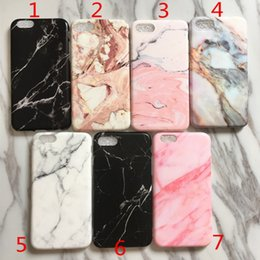 Wholesale Matte Iphone Skin - Marble IMD Soft matte TPU Case Full protect cover For iPhone X 8 6 6S 7 Plus Cell Phone Skin Cover
