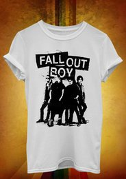 Wholesale Cooling Neck Bands - Fall Out Boy Rock Band Bomb Cool tee FOB Hardcore Punk Metal Core Funny Men Women Persionalized Custom t shirt