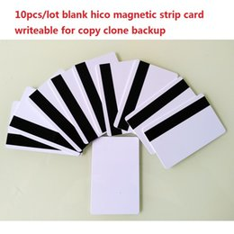Wholesale Hico Card - Wholesale-10pcs lot blank hico magnetic strip card writeable for copy clone backup
