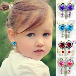 Wholesale Invisible Pierced Earrings - 1 Pair Ear clip style earring soft cushion Invisible ear hanging ear clip no Piercing earring for children kids