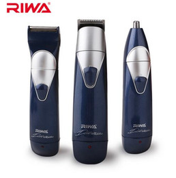 Wholesale Electric Shavers Headed - RIWA 3 in 1 Hair Trimmer Kits 3 Heads (Hair Clipper+Nose Trimmer+Electric Shaver) Multifunctional Hair Trimmers For Men RE-550A