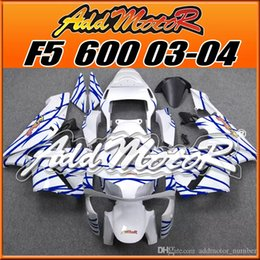 Wholesale F5 Body - In Stock Addmotor Injection Mold Fairings For Honda F5 CBR 600RR CBR600RR CBR 600 RR 2003 2004 03 04 Body Kit Blue White+5 Free Gifts