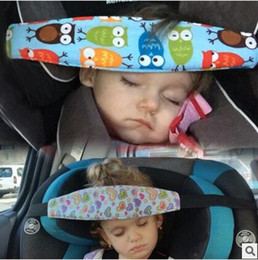 Wholesale Travel Baby Seat Belts - Fashion Baby Car Seat Sleep Adjustable Belt Nap Aid Safety Head Support Band Holder For Travel Kids Protector