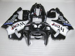 Wholesale Motorcycle Fairing Kits For Sale - Hot sale motorcycle Fairing kit for Kawasaki Ninja ZX7R 96 97 98 99 00-03 west sticker black fairings set ZX7R 1996-2003 OY15
