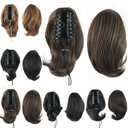 Canada ponytail bun hair extension supply ponytail bun hair wholesale 70g bun hair ponytails with clip synthetic donut roller hairpieces hair pmusecretfo Images