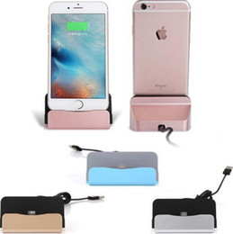 Wholesale Iphone 5s Charger Cables - Official Desktop Charger Dock Station USB Data Cable Stand For iPhone 7 6 6S Plus 5 5S 5C SE Android Phone Type C base Seat