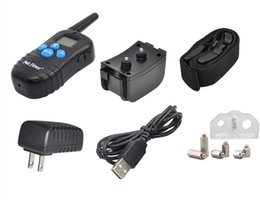 Wholesale Reliable Products - PET998DRB-1 Reliable Electric Vibrate Training Collar 300m Remote Shock Rechargeable Controller With Big LCD Display
