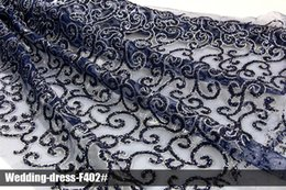 Wholesale Wholesale Fabric Floral Pattern - Latest Floral African Arabic glitter lace sequin mesh fabrics new design pattern high quality clothing multi color wedding dress for party